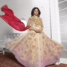 Prachi Desai Golden Bollywood Anarkali Suits » Shoppers99  #prachidesai   #bollywoodactress   #bollywood   #anarkali   #partywear   #partydress   #heroin   #ethnicwear   #ethnic