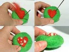 Needle Felted Soap....i will do this