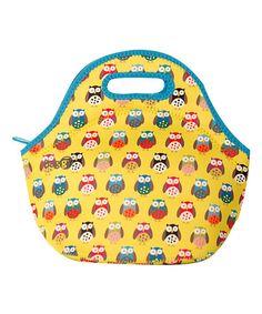 Look at this #zulilyfind! Crazy Owls  Yummy Neoprene Lunch Bag #zulilyfinds