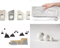 New Finds by Monica on Etsy featuring concrete jewelry - geometric minimalist concrete ring by shooohsJewelry