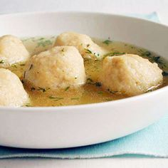 Healthier Matzo Ball Soup  #recipe #passover