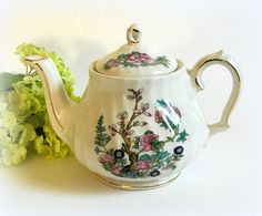 Vintage Sadler Small Individual Teapot Indian Tree