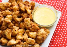 Chic-fil-A Nuggets*8 chicken tenderloins or 6 chicken breasts, cut into bite sized pieces  2 1/2 cups flour  1/4 cup powdered sugar  4 tsp. salt  3 tsp. pepper  1 tsp. paprika  Peanut oil or canola oil for frying (I used canola)