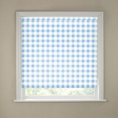The decorative Gingham Roller Blind patterned with sky blue and white checks allows you to control the amount of sunlight coming into your home, provides privacy and is a fresh alternative to standard window coverings. Sizes available: 2ft, 3ft, 4ft, 5ft, 6ft £11.99 - £31.99