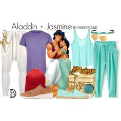 Disney Bound: Aladdin + Jasmine from Disney's Aladdin (Couple Outfit)