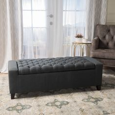 Stylishly designed and brimming with versatility, the Clarke Fabric Storage Indoor Bench works just as beautifully in your bedroom as it does in. Leather Storage Bench, Fabric Storage Ottoman, Storage Benches, Living Furniture, Upholstered Furniture, Modern Furniture, Club Chairs, Dining Chairs, Tufting Buttons