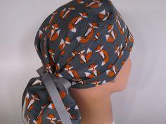 c6c5dc749695b Grey Fox Ponytail - Womens lined surgical scrub cap