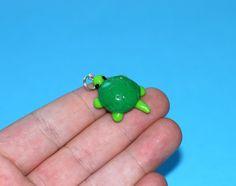 Tiny Turtle Pet Bead or Charm Ready to Ship by Rinyrinri on Etsy, $5.00