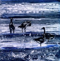 """Louise Worthy """"Migration Stop"""" Mixed Media"""