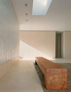 Sean Landers's Becoming Great, is above a nine-foot-long teak bench Diy Interior, Interior Architecture, Interior Design, Granite Flooring, Commercial Interiors, Architectural Digest, Furniture Design, Decoration, House Design