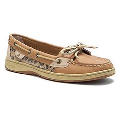 Women's Sperry Top-Sider  Angelfish Linen/Leopard Sequins