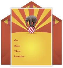 Image result for circus party invitations