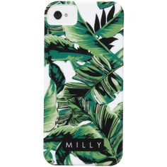 Milly Banana Leaf Print iPhone 5 Case (810 CZK) found on Polyvore