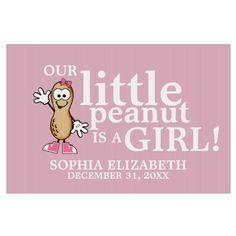 Little Peanut (Pink) Lawn Sign