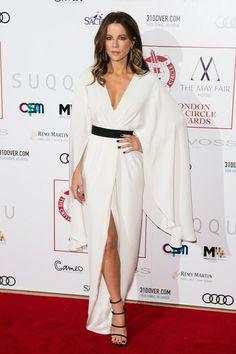 Kate Beckinsale wearing Stuart Weitzman Suede Courtesan Sandals