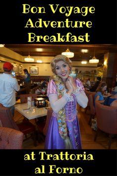 Bon Voyage Adventure Breakfast at Trattoria al Forno Disney Character Breakfast, Disney Character Meals, Disney World Characters, Disney World Tips And Tricks, Disney Tips, Disney Fun, Disney Ideas, Best Disney World Restaurants, Walt Disney World Vacations
