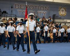 Bravo-201 company recruits proudly graduate from U.S. Coast Guard Training Center Cape May after completing basic training.