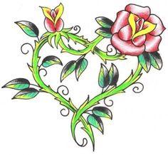 Flower Heart Tattoo Design 2011 New Designs Picture Sunflower Tattoo Sleeve, Sunflower Tattoo Shoulder, Sunflower Tattoo Small, Heart Flower Tattoo, Flower Tattoo Meanings, Flower Tattoos, Heart Tattoos, Free Tattoo Designs, Heart Tattoo Designs