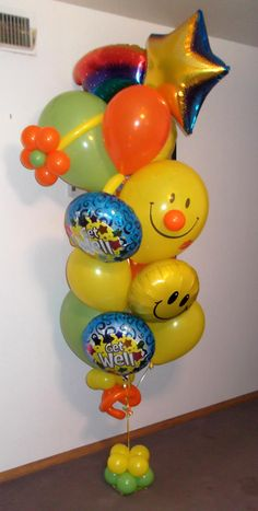 Medium Cheer up and get well soon balloon bouquet $94 created by balloonsandmoregifts.com help us get 500 likes on Facebook by the end of February https://www.facebook.com/pages/Balloons-and-More-Gifts/218906251459051