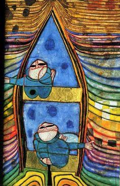 by Friedensreich Hundertwasser - Top-Trends Friedensreich Hundertwasser, Gustav Klimt, Sculpture Textile, Abstract Art Images, Shadow Art, Art Graphique, Grafik Design, Art Design, Les Oeuvres