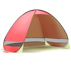 BBDI Outdoor 2 Person Automatic Pop Up Tent UV Protection Sun Shade Shelter Camping Hiking Fishing Picnic Beach Summer Tent Cabana  Rose Red *** Click image for more details.