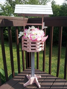 Handcrafted Pine Wood Wishing Well Planter by ForeverYoursCreation, $50.00