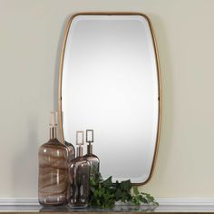 Canillo Mirror | Uttermost Antique Gold Mirror, Antique Silver, Round Wall Mirror, Beveled Mirror, Mirror Glass, Mirror Mirror, Uttermost Mirrors, Contemporary Wall Mirrors, Modern Wall