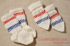 Mönster, babyvantar och sockor. – Lindas Lantliga Knitting For Charity, Knitting For Kids, Baby Knitting Patterns, Knitting Ideas, Baby Barn, Purl Bee, Knitted Baby Clothes, Knitted Animals, Vintage Wardrobe