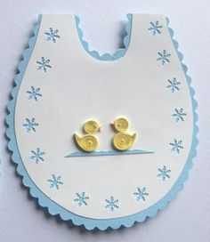 Quilling - new baby card