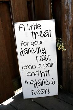"""FLIP FLOP SIGN - 11"""" x 23"""" Wooden Wedding Sign -  A little treat for your dancing feet, grab a pair and hit the dance floor on Etsy, $33.95"""