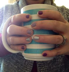 Jamberry Boysenberry and boysenberry chevron
