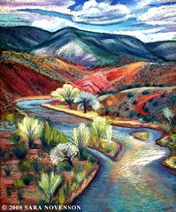New Mexico Landscape Art, Sara Novenson Mexico Art, New Mexico, Landscape Art, Landscape Paintings, Landscapes, Art Pictures, Art Images, South American Art, Southwestern Art