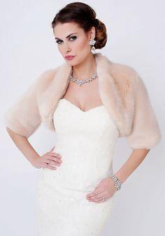 Blush Mink Faux Fur Bolero Jacket
