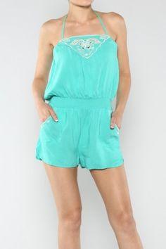 salediem.com sells the coolest dresses for summer Shipping FREE Solid Halter Romper