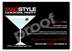 Mad Men Cocktail Party Invitation