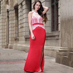 2017Ladies Sexy Halter Strapless Lace Dress Suit Bridesmaid Long Party Dress Suit Robe Maxi Long Spilt Tank Plus Size Dress Suit