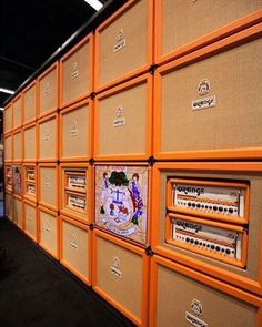 A Wall of Orange! Yes! #orange #orangeamps #orangeamplifiers #wallofsound…
