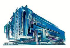Yakov Chernikhov Arquitectura Arquitetura Desenhos Projectos Projetos Visionario…