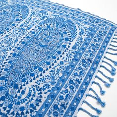 BLUE PAISLEY WOOL BLANKET - Blankets - Decoration | Zara Home Sverige / Sweden