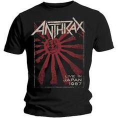 Anthrax Biker Skull T-Shirt Black Small Heavy Metal Band Shirt Official New