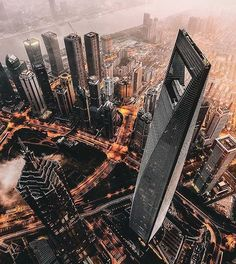 "2,336 Likes, 13 Comments - designboom magazine (@designboom) on Instagram: ""rising at 492 meters, the #shanghai world financial center (on the right) by kohn pedersen fox…"""