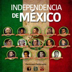"""Copy of """"Personajes Destacados de la Independencia de Mé..."""" - ThingLink"""