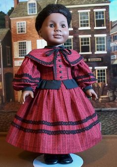 1864 Gown with Peplum and Capelette