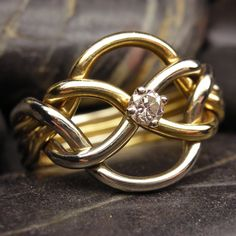 Diamond puzzle ring in 10kt gold 5pt Diamond by nellyvansee