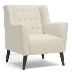 Baxton Studio Berwick Beige Linen Arm Chair | Overstock.com Shopping - Great Deals on Baxton Studio Chairs