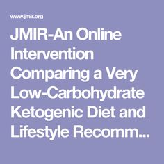 JMIR-An Online Intervention Comparing a Very Low-Carbohydrate Ketogenic Diet and Lifestyle Recommendations Versus a Plate Method Diet in Overweight Individuals With Type 2 Diabetes: A Randomized Controlled Trial | Saslow | Journal of Medical Internet Research