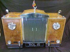 ROLLS ROYCE SILVER SIDEBOARD Car Furniture, Rolls Royce, Sideboard, Sculpture, Wood, Silver, Woodwind Instrument, Timber Wood, Sculptures