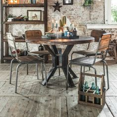 Factory Reclaimed Wood Dining Table