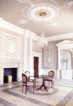 """the """"Wedgewood"""" look derived by Robert Adam is highly influential in today's color palates."""