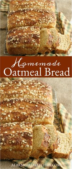 Oatmeal Bread recipe made with basic ingredients and detailed instructions showing how to make bread! Done in a few hours this recipe is one of the best soft oatmeal sandwich bread recipes. Homemade Sandwich Bread, Best Homemade Bread Recipe, Sandwich Bread Recipes, Yeast Bread Recipes, Baking Recipes, Scone Recipes, Homemade Breads, Sandwich Cookies, Pizza Recipes